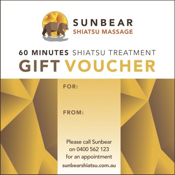 Shiatsu gift voucher 60 minutes