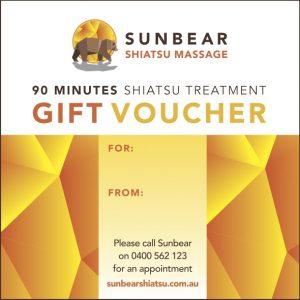 shiatsu gift voucher 90 minutes